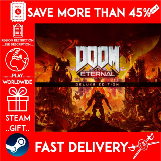 DOOM Eternal Deluxe Edition (STEAM GIFT) 🎁🎁🎁 (get a bonus game 🎮 and a discount 💵 for the next purchase)