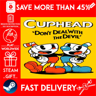 Cuphead (STEAM GIFT) 🎁🎁🎁 (get a bonus game 🎮 and a discount 💵 for the next purchase)