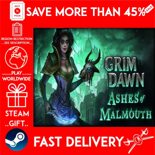 Grim Dawn - Ashes of Malmouth Expansion (STEAM GIFT)🎁🎁🎁 (get a bonus game 🎮 and a discount 💵 for the next purchase)