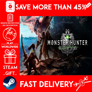 MONSTER HUNTER: WORLD (STEAM GIFT)🎁🎁🎁 (get a bonus game 🎮 and a discount 💵 for the next purchase)