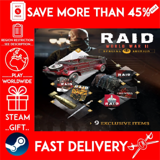 RAID: World War II Special Edition (STEAM GIFT)🎁🎁🎁 (get a bonus game 🎮 and a discount 💵 for the next purchase)