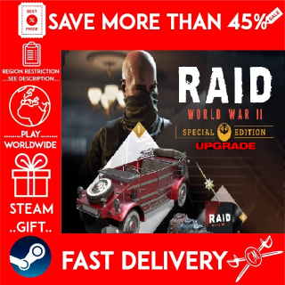 RAID: World War II Special Edition Upgrade ❗DLC❗ (STEAM GIFT)🎁🎁🎁 (get a bonus game 🎮 and a discount 💵 for the next purchase)