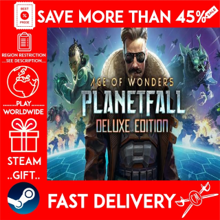Age of Wonders: Planetfall Deluxe Edition (STEAM GIFT) 🎁🎁🎁 (get a bonus game 🎮 and a discount 💵 for the next purchase)