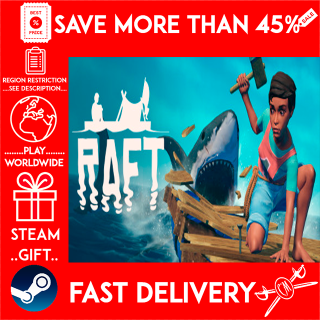 RAFT (STEAM GIFT) 🎁🎁🎁 (get a bonus game 🎮 and a discount 💵 for the next purchase)