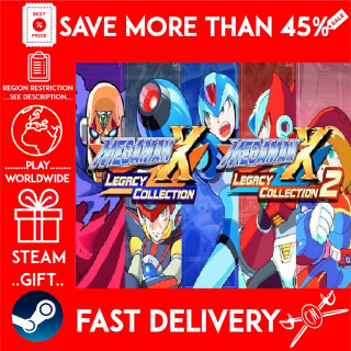 Mega Man X Legacy Collection 1+2 Bundle (STEAM GIFT)🎁🎁🎁 (get a bonus game 🎮 and a discount 💵 for the next purchase)