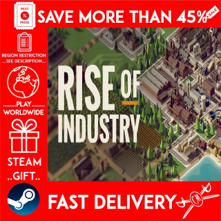 Rise of Industry (STEAM GIFT) 🎁🎁🎁 (get a bonus game 🎮 and a discount 💵 for the next purchase)