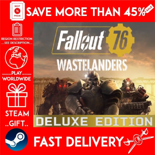 Fallout 76: Wastelanders Deluxe Edition (STEAM GIFT) 🎁🎁🎁 (get a bonus game 🎮 and a discount 💵 for the next purchase)