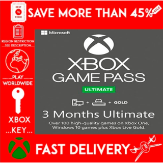 Xbox Game Pass Ultimate 3 months (stack 7x14 days) GLOBAL 🌎🌎🌎