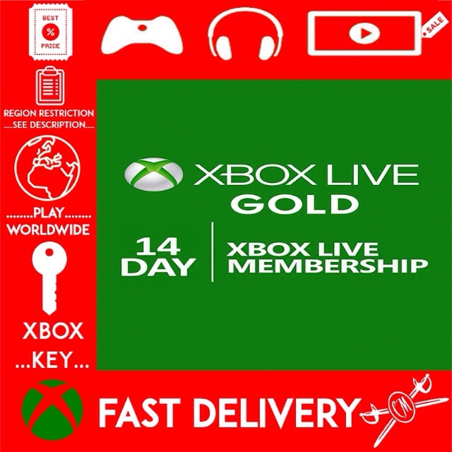 Xbox Live Gold 14 Day Trial Code for Xbox One or Xbox 360 - Instant Delivery 👑👑👑