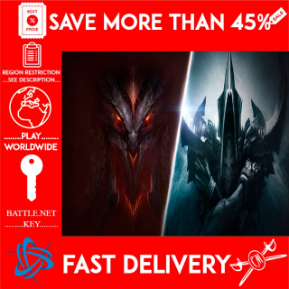 Diablo 3+RoS Battlechest (BATTLE.NET KEY) (Global) 🗝️🗝️🗝️