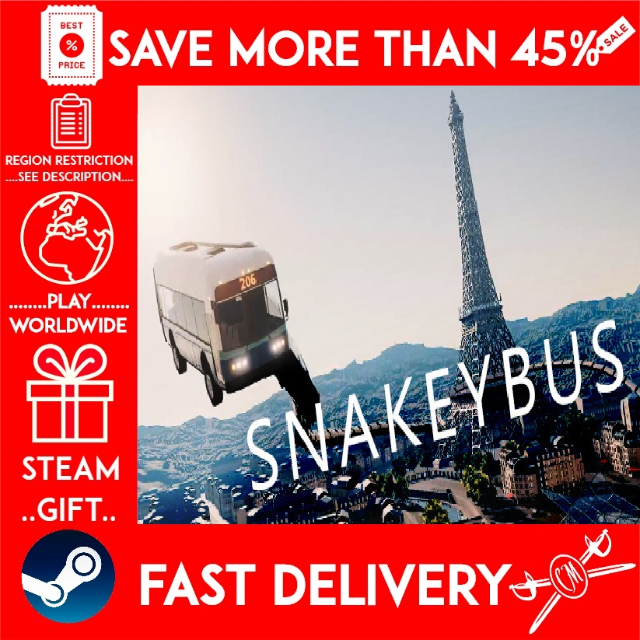 Snakeybus (STEAM GIFT) (get a bonus game and a discount