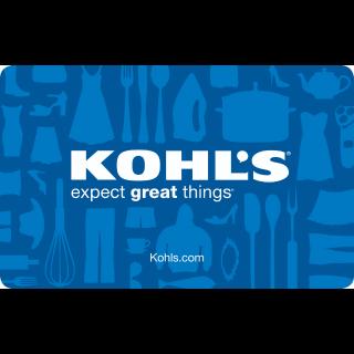 $10.00 Kohl's