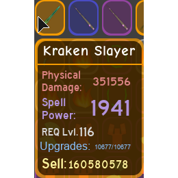 Gear | kraken slayer 351.5k