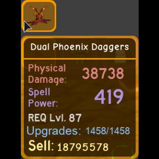 Gear | dual phoenix daggers 38k