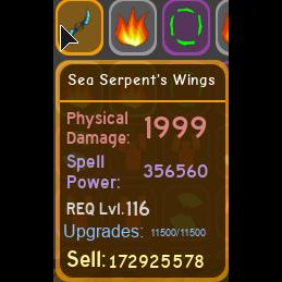 Gear | sea serpent wings 356.5k