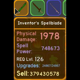 Gear | inventor's spellblade