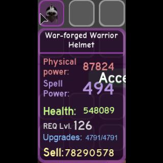 Gear | war-forged warrior helm