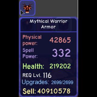 Gear | mythical warrior armor