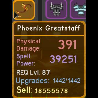 Gear | phoenix greatstaff 39.2k