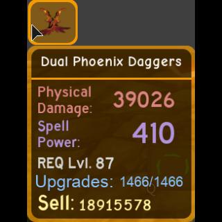 Gear | dual phoenix daggers 39k