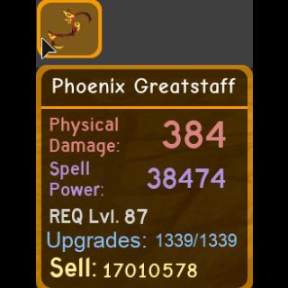 Gear | phoenix greatstaff 38.4k