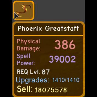 Gear | phoenix greatstaff 39k