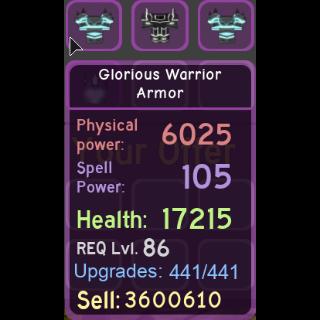Gear | glorious warrior armor