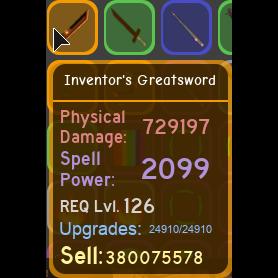 Gear | inventor's greatsword