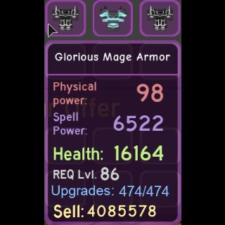 Gear | glorious mage armor 6.5k