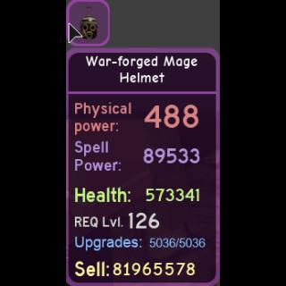 Gear | war-forged mage helmet