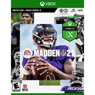 Madden NFL 21 [Region US] [Xbox One Game Key] [Instant Delivery]