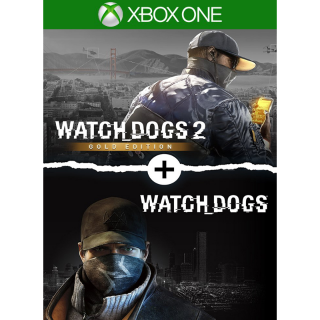 Watch Dogs 1 + Watch Dogs 2 Gold Editions Bundle [Xbox One Game Key] [Region US]