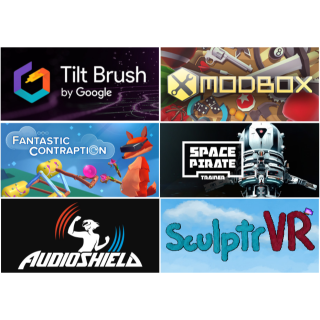 Steam Code Vive: Tilt Brush, Fantastic Contraption, Audio Shield, Space Pirate Trainer, Modbox and SculptrVR