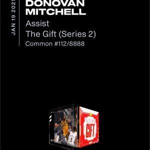"NBA Top Shot Donovan Mitchell ""The Gift"" set 112/8888 LE"