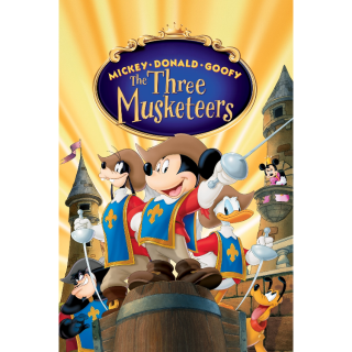 Mickey, Donald, Goofy: The Three Musketeers Movies Anywhere Split Digital Movie Code USA HD