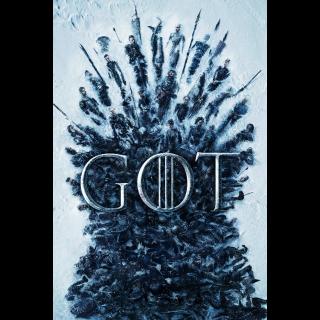 Game of Thrones Season 1 iTunes USA HD Digital Code iTunes