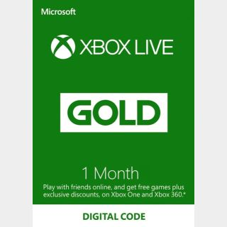 Xbox Live Gold 1 Month (Global)✅