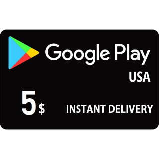 Google Play $5 USA - Instant delivery