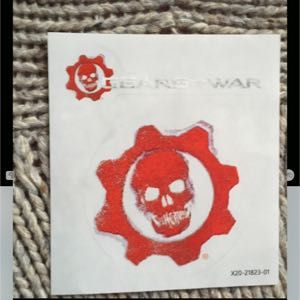 """Two [2] SKULL Decal Stickers, from XBOX """"Gears of War"""" Video Game!"""