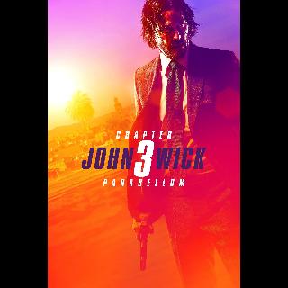John Wick: Chapter 3 – Parabellum Digital 4K iTunes VUDU