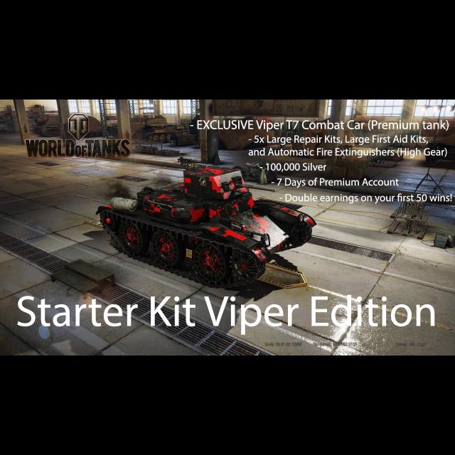 PS4 Game : World of Tanks Starter Kit Viper Edition Bonus Code