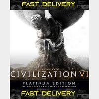 Civilization VI Platinum Edition | Fast Delivery ⌛| Steam CD Key | Worldwide |
