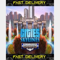 Cities Skylines Campus   Fast Delivery ⌛  Steam CD Key   Worldwide  
