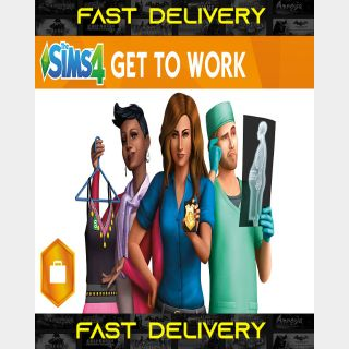 The Sims 4 Get To Work | Fast Delivery ⌛| Origin CD Key | Worldwide |
