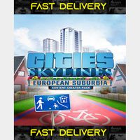 Cities Skylines European Suburbia   Fast Delivery ⌛  Steam CD Key   Worldwide  