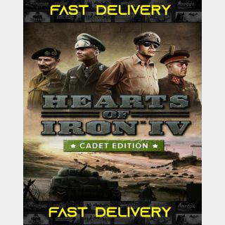 Hearts Of Iron IV - Cadet Edition| Fast Delivery ⌛| Steam CD Key | Worldwide |