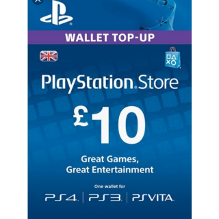 £10.00 PlayStation Store VALID ONLY UK ( Automatic Delivery )