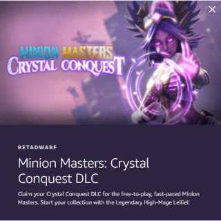 Minion Masters: Crystal Conquest DLC - Twitch Prime Loot