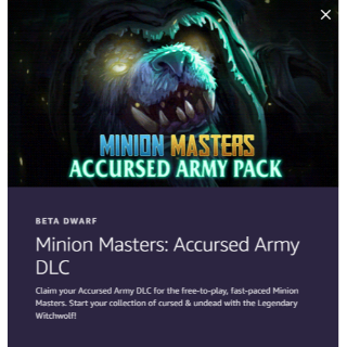 Minion Masters: Accursed Army DLC - Twitch Prime Loot