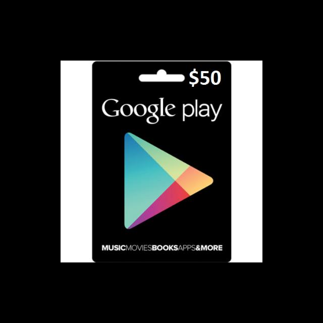 Gift Card Google Play 50 Canadian Dollar Cad